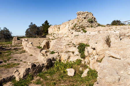 Ancient Ruins of The Medieval Castle in Palazzolo Acreide, Province of Syracuse, Italy. (Part II)