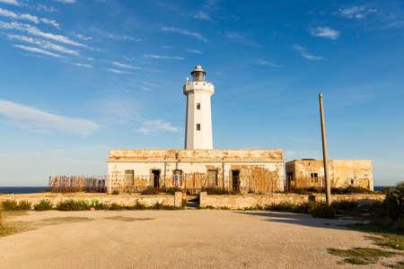 Wonderful Sights of Capo Murro di Porco Lighthouse in Syracuse, Sicily, Italy. Archivio Fotografico