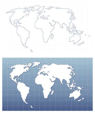 Pixel world map Stock Vector - 8186230
