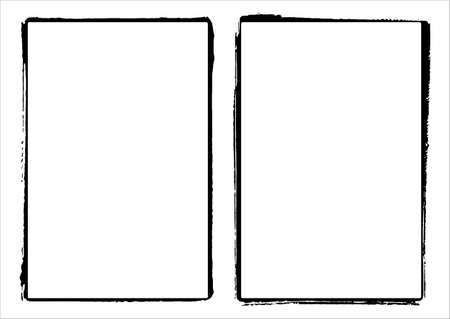grunge: Two  Film Frame Edges  Borders Illustration