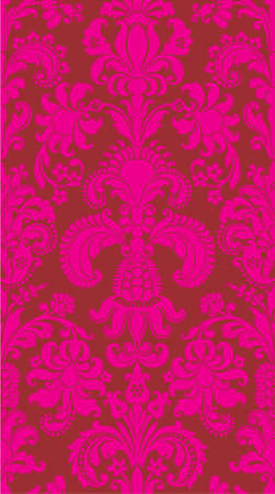 Seamless rough background from a flower ornament, modern wallpaper or textile