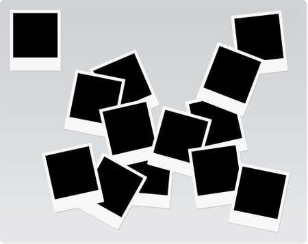 Instant print photo frames on a heap Illustration