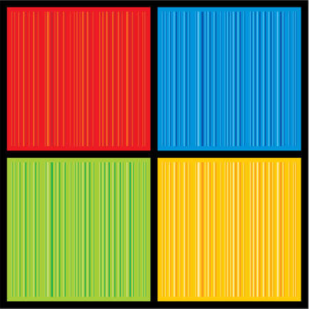 A set of four colorful 3D striped backgrounds