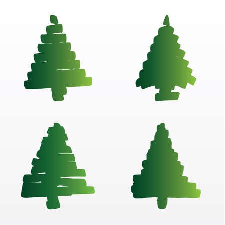 Eine Reihe von Weihnachtsb�ume Illustration