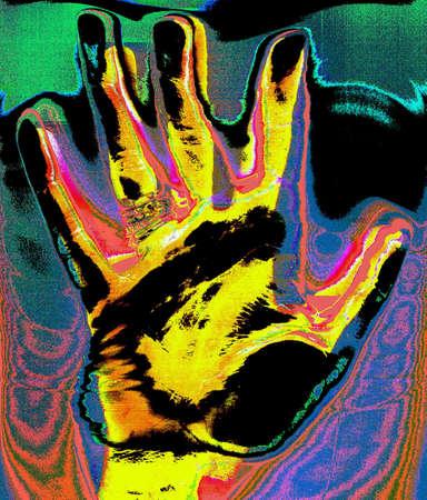 Pop Art illustration of a hand