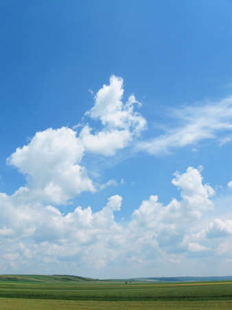 royalty free: Sky With Fluffy Clouds