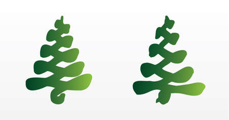 A set of Christmas trees Vector