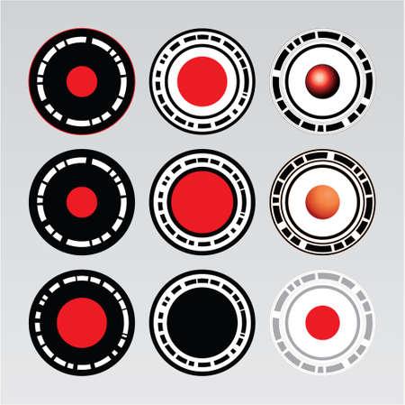 Abstract round design