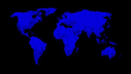Bemalte Weltkarte - blau Lizenzfreie Bilder