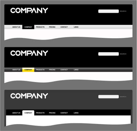 Clean web site headers Vector