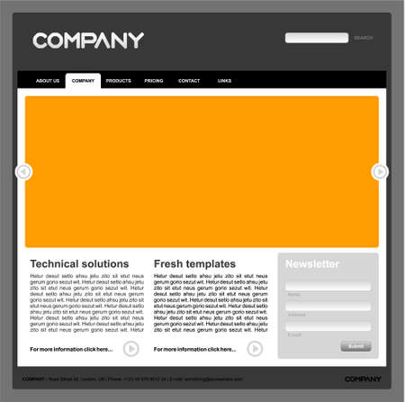 web site design template Illustration