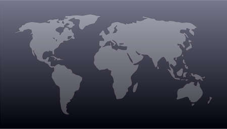 World map in vector format