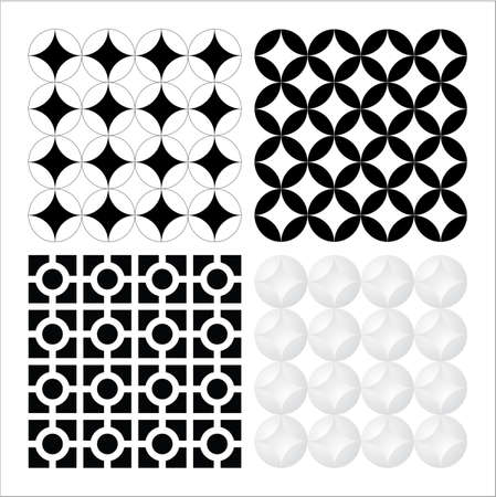 A set of vector based decorative seventies patterns