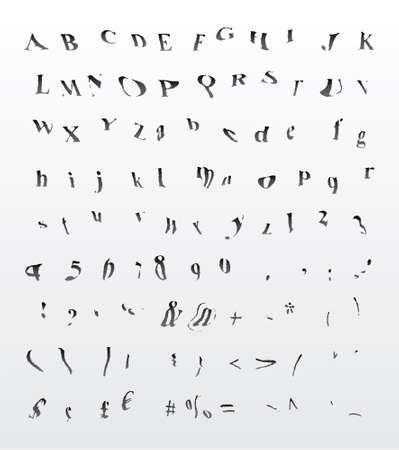 Grungy bend dreamy hypnotic font Illustration