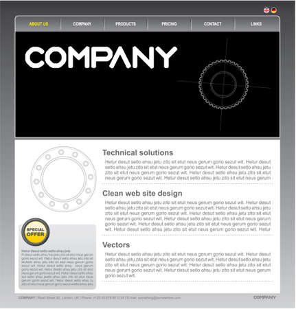 Clean vector web site design template