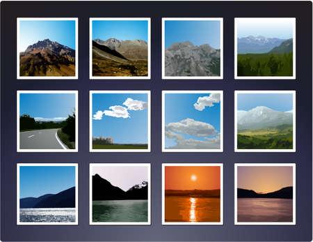 vectorized: Fotos de paisaje vectorizada Vectores