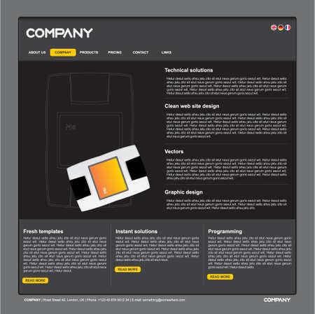 Saubere vektor Web Site Design template