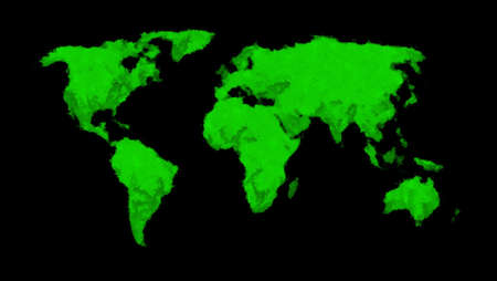 Painted world map - green Stock Photo - 8494285