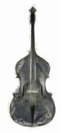 Double Bass Drawing