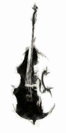 bowing: Double Bass Drawing