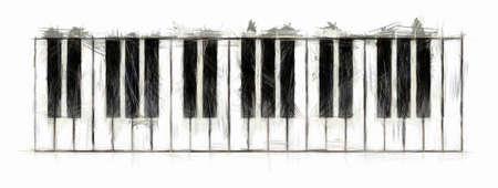 Klavier-Keyboard-Zeichnung