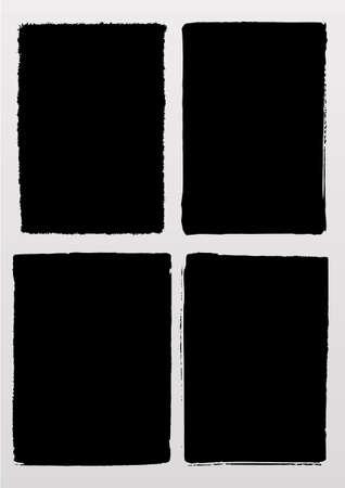 vectorized: Un conjunto de marcos de dibujo a la fotograf�a grunge y fondos Vectores