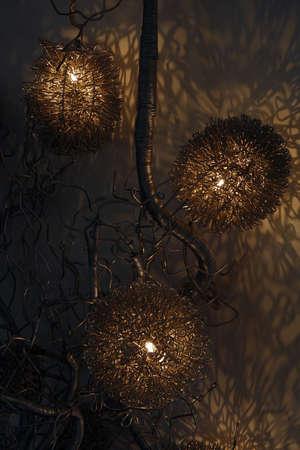 attention grabbing: Futuristic Organic Lamp Made of Wire