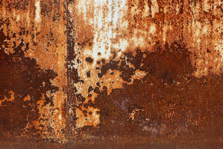 oxidized: Rusted metal plates - grungy industrial construction background