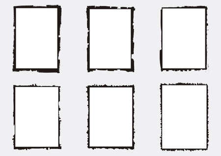 A set of vectorized grungy photography frames and backgrounds Illustration