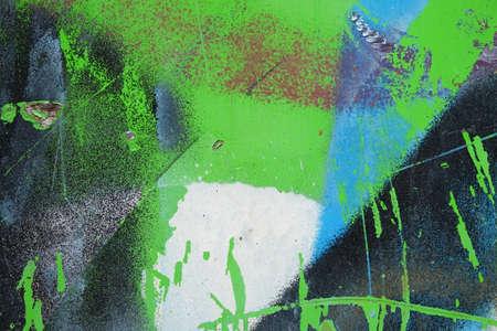 Graffiti on a wall - detail of a graffiti painted on a wall