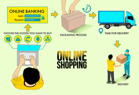 infographic illustrations for online shopping