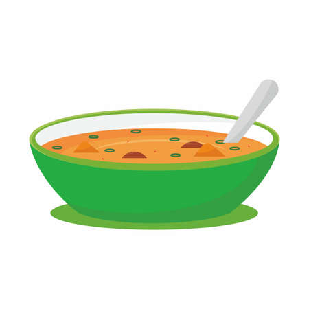 Bowl of soup vector illustration isolated on white background Stock Illustratie