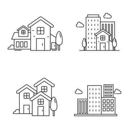 Set of house and real estate vector suitable for illustration or icon