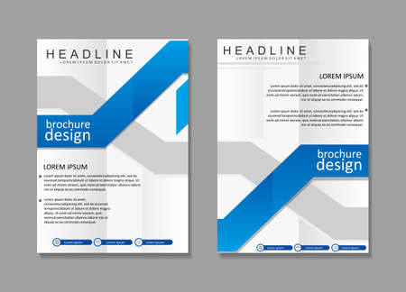 Business brochure template design with blue n white color. Poster design template. Cover design