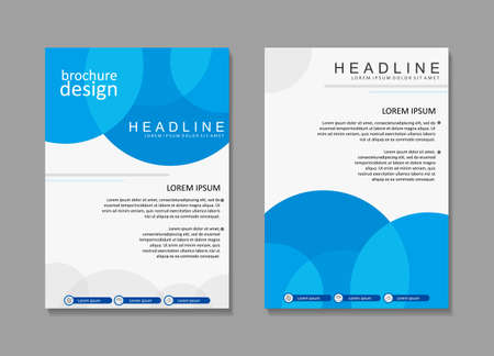 Modello di progettazione brochure aziendale con colore blu n bianco. Modello di progettazione del manifesto. Disegno della copertina