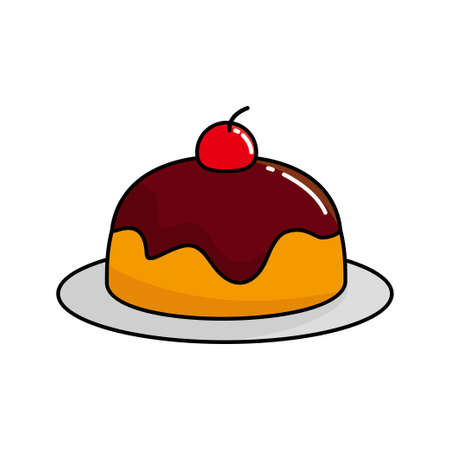 Pudding vector illustration isolated on white background, pudding clip art