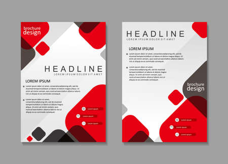Brochure template design with red and white color. Cover design, poster design Ilustracja