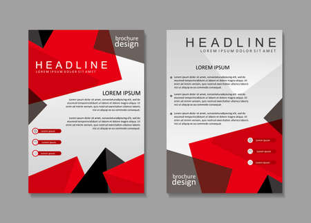 Brochure template design with red and white color. Cover design, poster design Illustration