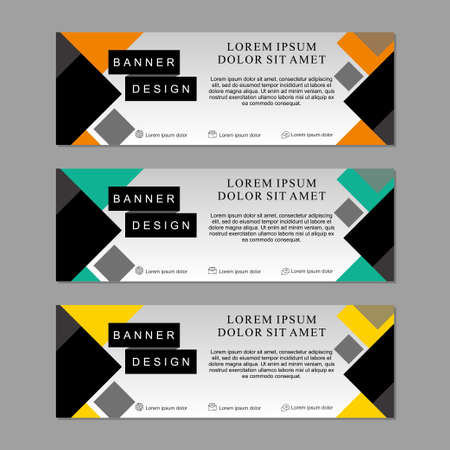 Set of banner template design suitable for web or advertising. Abstract banner template design