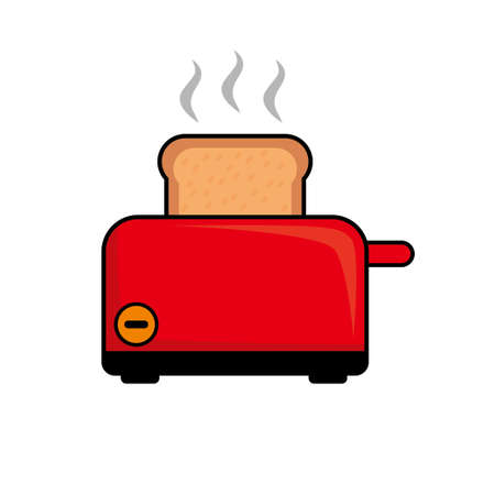 Toaster vector illustration isolated on white background. Toaster clip art. Toaster icon