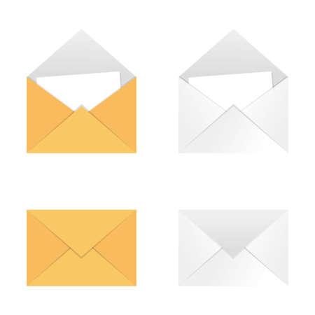 Envelope flat vector illustration isolated on white background.