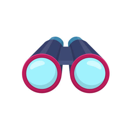 Binocular vector illustration in flat design isolated on white background Ilustração