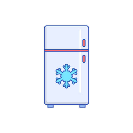 Refrigerator vector illustration with colorful design isolated on white