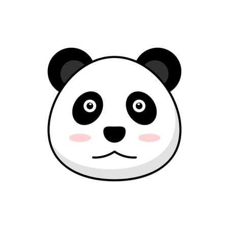 Cute panda cartoon illustration isolated on white background