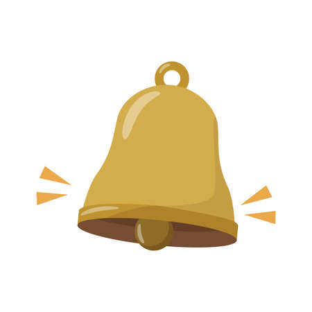 Simple bell vector illustration isolated on white background