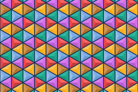 Abstract geometric pattern with triangle shape and colorful design suitable for background or wallpaper