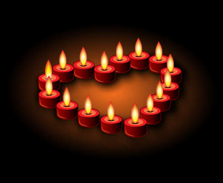 flaming heart: flaming heart candle