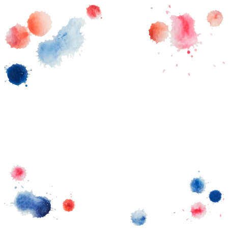 water color: Abstract water color template hand paint on white background. Vector watercolor composition for scrapbook. Artistic illustration for your design.