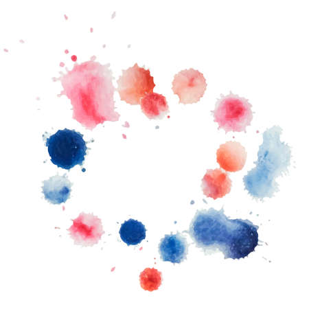 Abstract water color template hand paint on white background. Vector watercolor composition for scrapbook.  Illustration