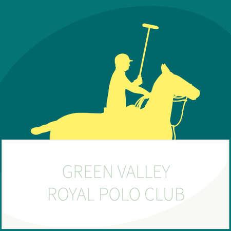 Horse polo player  photo